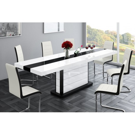 8164653e3bee8 Luxusný rozkladací jedálenský stôl PIANOSA - Stolíkovo