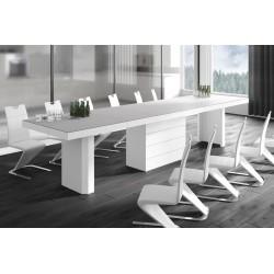 Luxusný rozkladací jedálenský stôl KOLOS 140 MATNY /až 332cm/ viac farieb