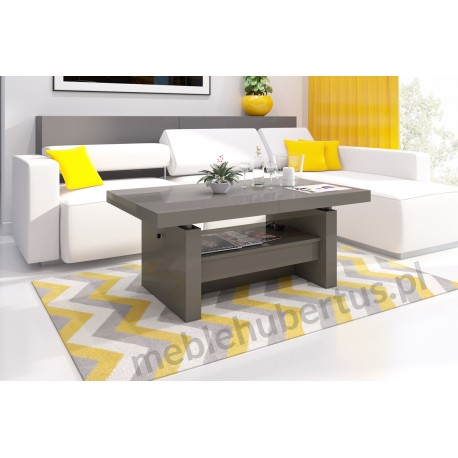 Luxusný rozkladací konferenčný stolík AVERSA biela vysoký lesk