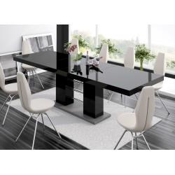 Luxusný rozkládací Jedálenský stôl LINOSA 2 čierna vysoký lesk