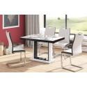 Luxusný rozkladací jedálenský stôl QUADRO 120 LESK