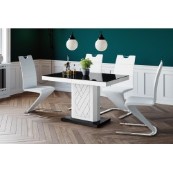 Luxusný rozkladací jedálenský stôl RIVIA 120 LESK