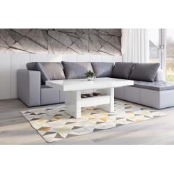 Luxusný rozkladací konferenčný stolík AVERSA LUX biela lesk