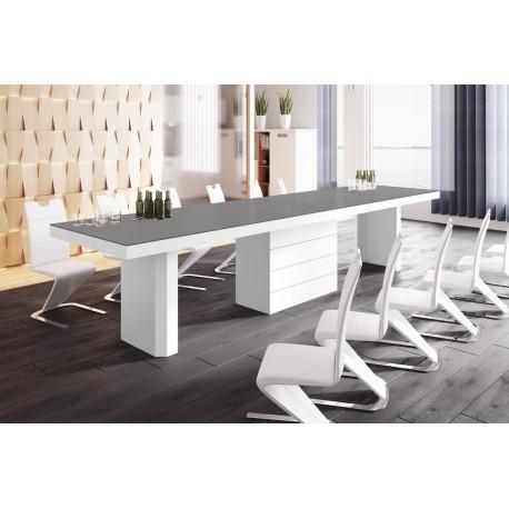 Luxusný rozkladací jedálenský stôl KOLOS /až 412cm/