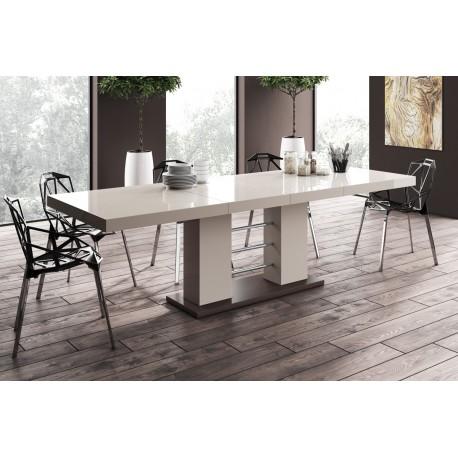 Jedálenský stôl Hubertus LINOSA 2 capucino vysoký lesk