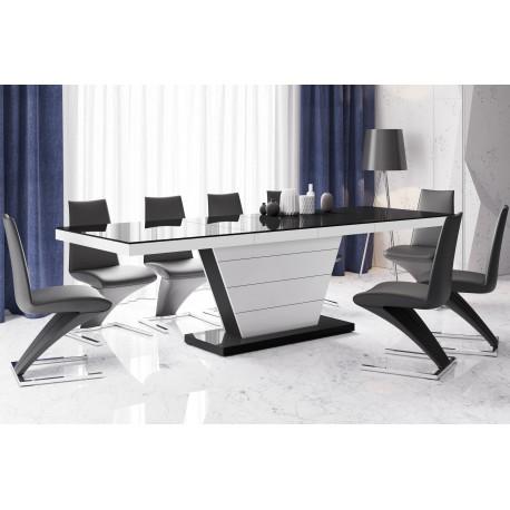 Luxusný rozkladací jedálenský stôl VEGA vysoký lesk