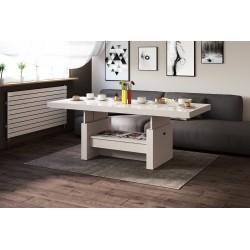Luxusný rozkladací konferenčný stolík AVERSA cappucino vysoký lesk