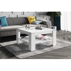 Luxusný konferenčný stolík Hubertus ELBA biela