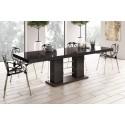Luxusný rozkladací jedálenský stôl LINOSA 2- hnedá vysoký lesk