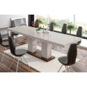 Luxusný rozkladací jedálenský stôl LINOSA 2 capucino vysoký lesk
