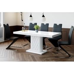 Luxusný rozkladací jedálenský stôl RIVIA 120 MATNÝ