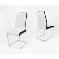 Jedálenská stolička LIVORNO biela/čierna
