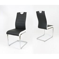 Jedálenská stolička LIVORNO čierna/biely bok