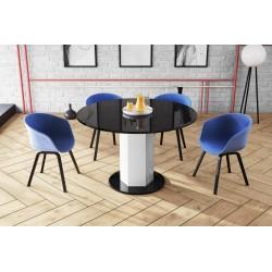 Luxusný rozkladací jedálenský stôl ORDEO biela LESK