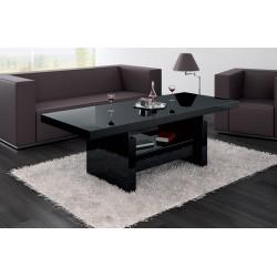 Luxusný rozkladací konferenčný stolík AVERSA čierna vysoký lesk