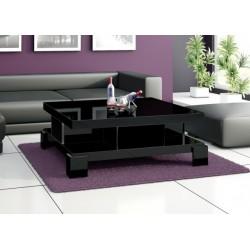 Luxusný konferenčný stolík Hubertus SALINA čierny, vysoký lesk