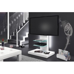 Luxusný TV stolík-stojan MARINO biela vysoký lesk