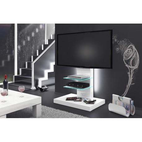 Luxusný TV stolík -stojan MARINO biela vysoký lesk