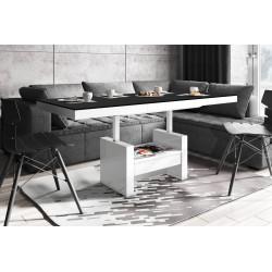 Luxusný rozkladací konferenčný stolík AVERSA LUX MATNY čierna