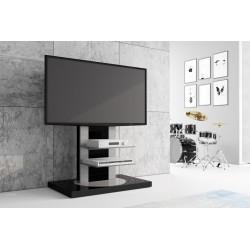 otočný TV stolik- stojan Hubertus ROMA 2 čierna